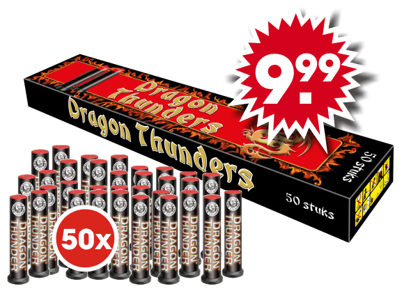 Dragon Thunders BOX (50 stuks)*