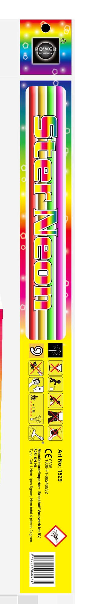 Ster neon, 45 cm