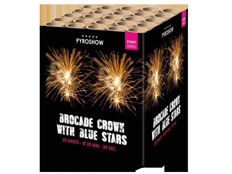 Brocade Crown Blue Stars